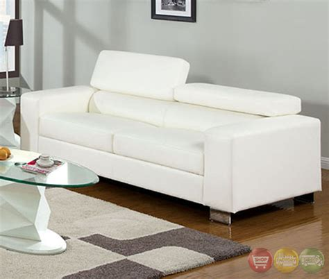 white leather living room set makri contemporary white living room set with bonded