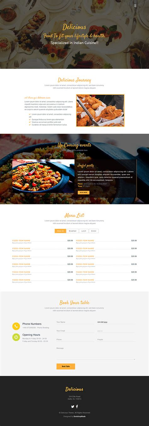 bootstrap themes free restaurant 51 free bootstrap themes templates