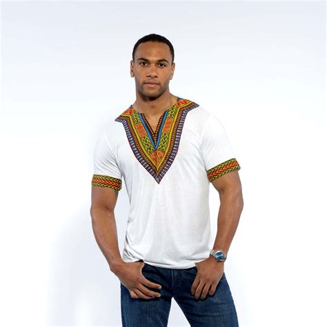 men wear african men s african print dashiki t shirt white africans