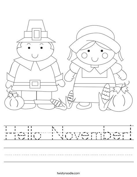 november coloring pages for preschoolers hello november worksheet twisty noodle