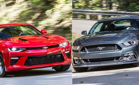 Mustang Gt Vs Camaro Ss by 2016 Chevrolet Camaro Ss Vs 2015 Ford Mustang Gt
