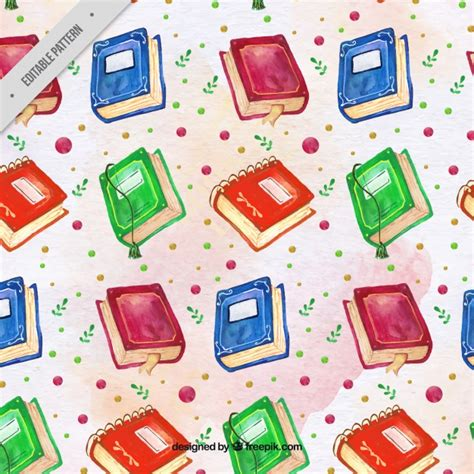 watercolor florida pattern book watercolor books background vector free download