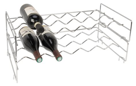 Wine Rack Franchise by Chrome Stackable Wine Rack From Storage Box