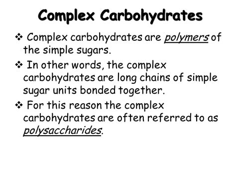 6 complex carbohydrates basic biochemistry carbohydrate protein and