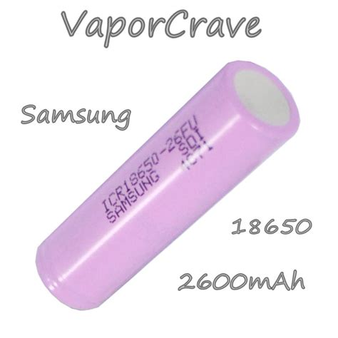Samsung 18650 By Khobra Vapor samsung 18650 2600mah li ion battery