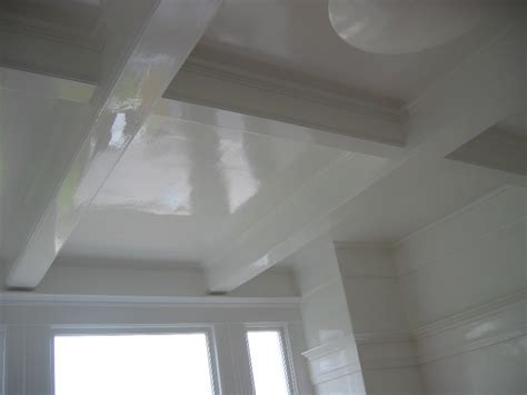 high gloss ceiling paint finishes change how color appears on interior walls