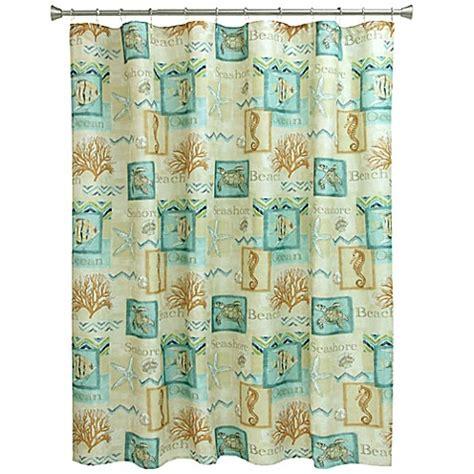 blue coral shower curtain bacova chevron beach shower curtain in blue coral bed