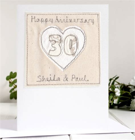 Personalised Wedding Anniversary Cards Uk by Personalised 30th Wedding Anniversary Card By Milly And