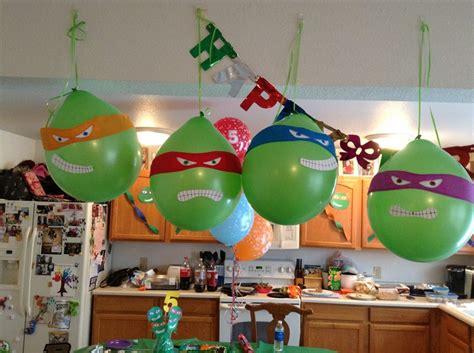 ninja turtle themed birthday party ninja turtle birthday party balloons ninja turtles party