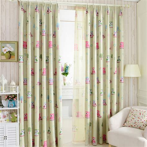 curtains for kids bedroom 2015 cartoon owl shade blinds finished window blackout