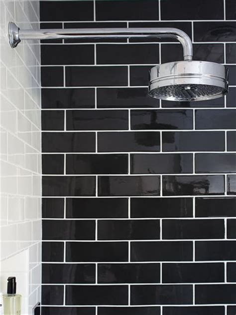 black and white subway tile bathroom best 25 black subway tiles ideas on pinterest black tile bathrooms black wall