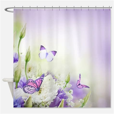 Butterfly Shower Curtain by Purple Butterfly Shower Curtains Purple Butterfly Fabric