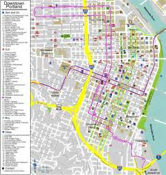 walking map of downtown portland oregon portland maps free printable maps