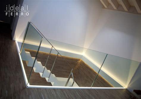 ringhiera vetro parapetto in vetro illuminato idealferro