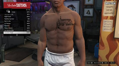 gta online tattoo angel tattoo franklin torso gtav impotent rage