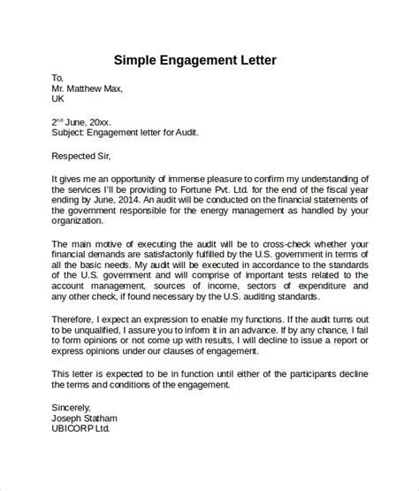 engagement letter template engagement letter