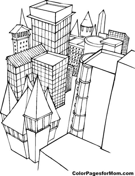 coloring pages for adults buildings building coloring page 1