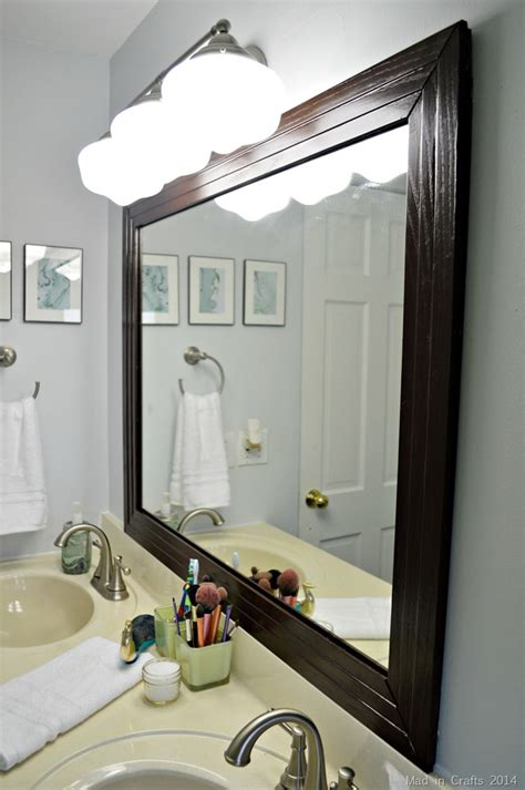 how to frame a bathroom mirror with molding framed bathroom mirror mad in crafts
