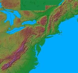 map of eastern us mountain ranges satellite photograph of the cheseapeake bay and