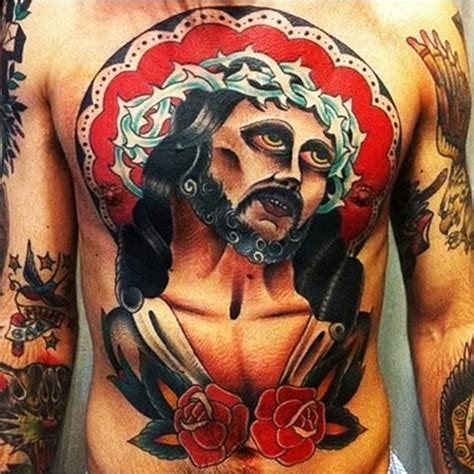 traditional jesus tattoo neo traditional jesus www pixshark images