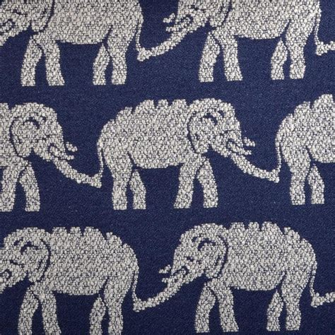 Elephant Print Upholstery Fabric by Elephant Upholstery Fabric Modern Navy Blue Fabric Animal