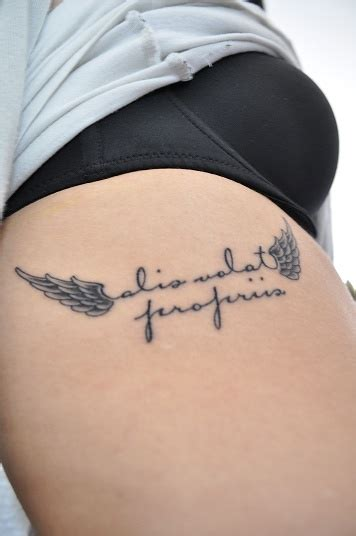 alis volat propriis she flies with her own wings cute