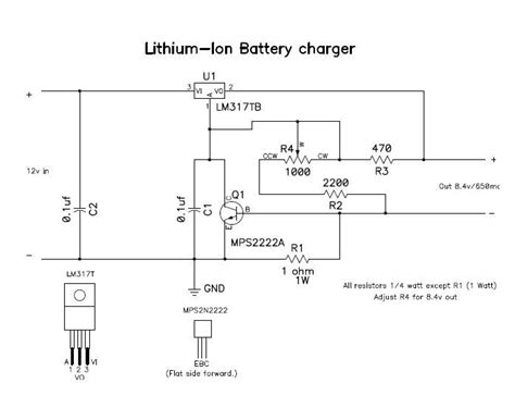 lithium battery charger schematic gt circuits gt lithium charger l45721 next gr
