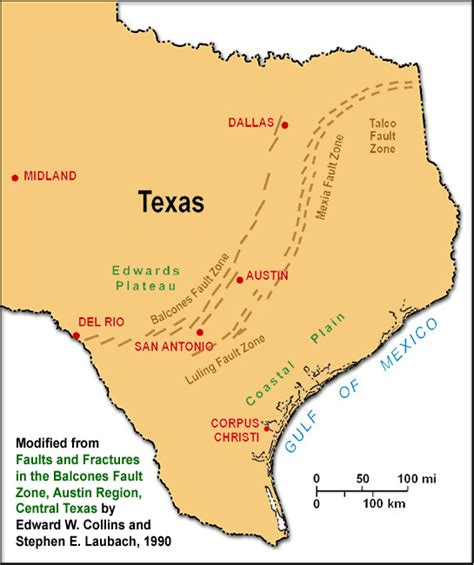 map of fault lines in texas if you could live rx8club
