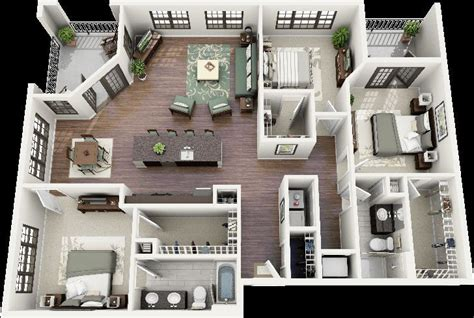3d house plan image sle sle picture living room 50 three 3 bedroom apartment house plans open floor