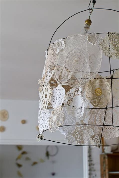 Doily Chandelier Doilies Lshades And Wire On
