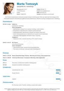 Curriculum Vitae Template Free by Szablon Cv Nanica