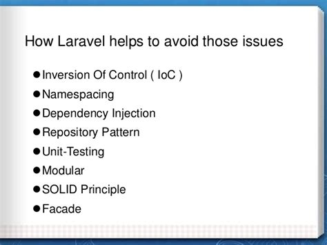 laravel repository pattern github building large scale php web applications with laravel 4