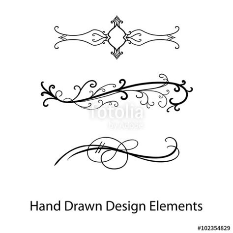 quot vector design element beautiful fancy curls and swirls