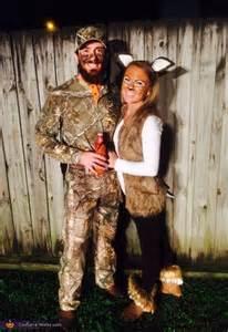 hunting couple halloween costumes deer and hunter couples halloween costume