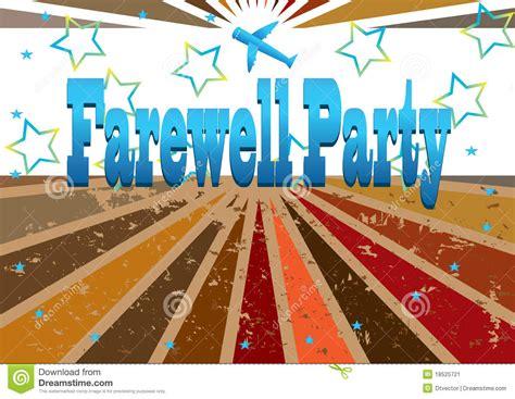 farewell banner template farewell banner eps stock image image 18525721