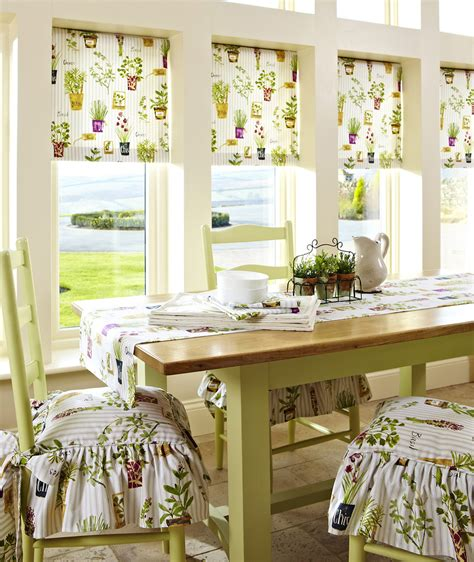 Country Style Kitchen Blinds by The Curtain Studio In Usk South Wales Roller Blinds
