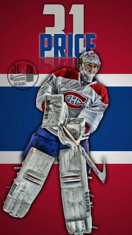 carey price iphone  wallpaper james catarcio graphic