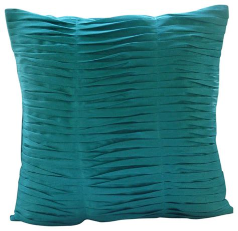 gentle waves decorative turquoise silk throw pillow cover