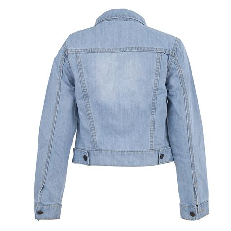 Lapel Denim Jacket lapel cropped denim sleeve jacket coat