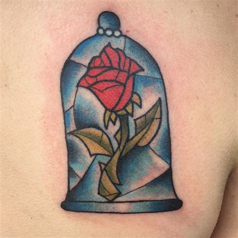 rose from beauty and the beast tattoo and the beast venice designs