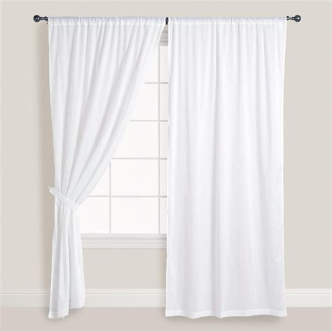 window with drapes white cotton voile curtains set of 2 window doors and
