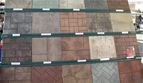 rubber concrete stamps concreteideas