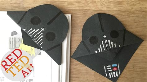 which corner do sts go in easy darth vader bookmarks for father s day youtube