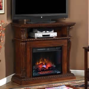 Corner Electric Fireplace Corinth 23 Quot Vintage Cherry Electric Fireplace Cabinet Corner Mantel Package 23de1447 C233