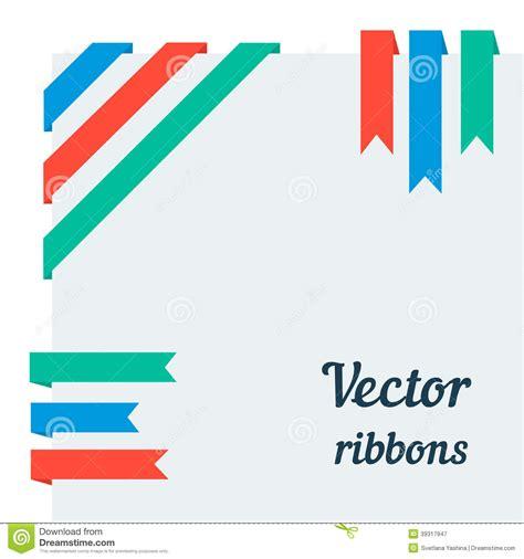 Flat Ribbon flat ribbons stock illustration image 39317947
