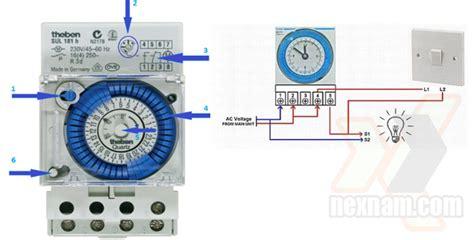 Saklar Timer instalasi listrik memasang saklar otomatis untuk lu
