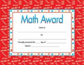 math award template math award certificate by fair school