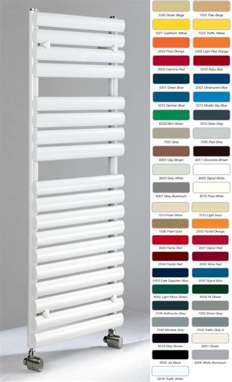 Designer Bathroom Accessories dq cove towel rail ral colours radiator world
