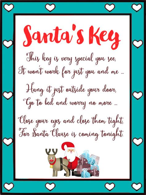 printable santa key poem how to create a christmas eve box maybe baby brothers