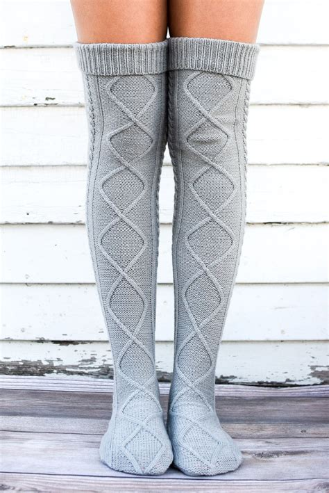 knitted boot socks grey cable knit boot socks bootcuffsocks